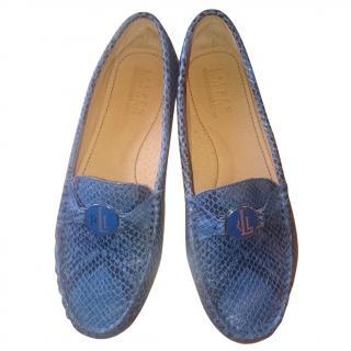 Lauren Ralph Lauren Python Dark Blue Loafers