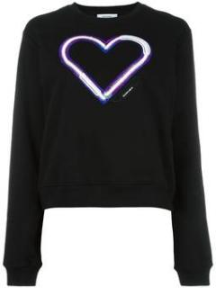Carven Embroidered Heart Sweatshirt