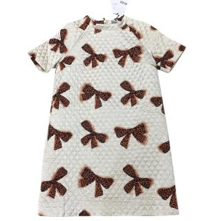 Alice By Temperley Quilted Mini Rossi Dress Off White With Bows
