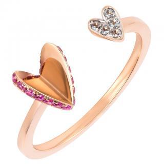 Ruifier Visage Flutter Heart Ring 18ct Gold