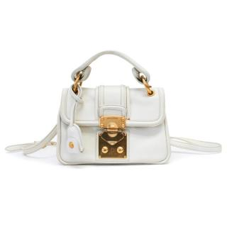 Miu Miu White Cross Body Bag