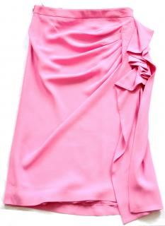 Emanuel Ungaro pink ruffled runway skirt