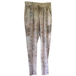 Melissa Odabash snakeskin print silk pants