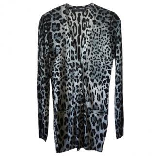 Dolce and Gabbana leopard print cardigan
