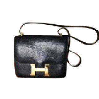 Hermes Mini Black Lizard Constance