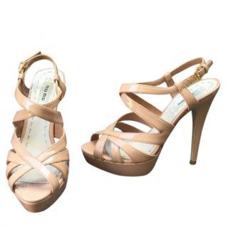 Miu Miu Nude Calzature Donna Patent heels