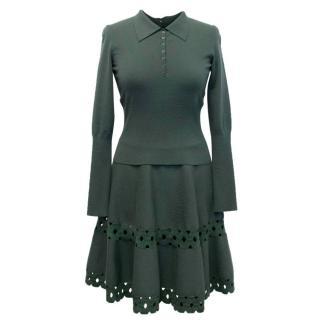 Alaia Khaki Green Skirt and Top