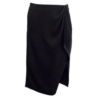 Altuzarra Black Pencil Skirt with Ruching