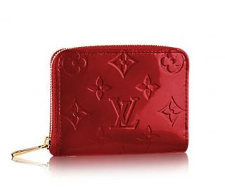 Louis Vuitton Zippy Coin Purse in Red Vernis Leather