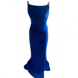 Ladies Ralph Lauren Blue Evening Gown UK10