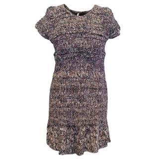 Isabel Marant Patterned Silk Dress with Elasticated Midsection