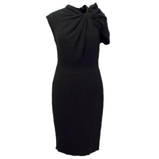 Lanvin Black Wool Blend Pencil Dress