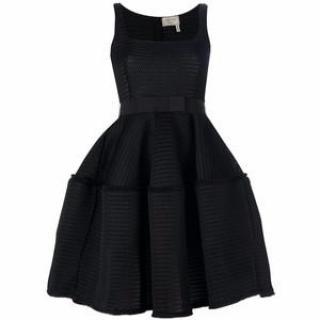 Lanvin Honeycomb Open Weave Black Dress