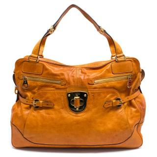 Alexander McQueen Tan Leather Bag with Gold Hardware Details