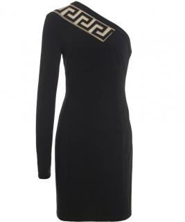 VERSACE Black One Shoulder Evening Dress