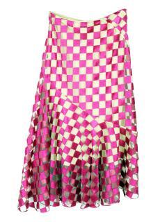 Jonathan Saunders embroidered pink skirt