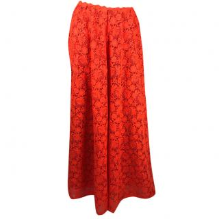 Valentino Electric Orange lace Ball Skirt