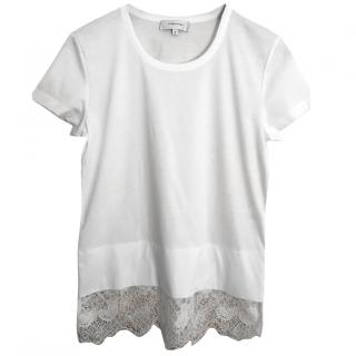 Carven Lace Trim T-Shirt