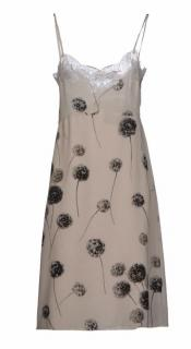 Valentino Dandelion Floral Lace Slip Dress