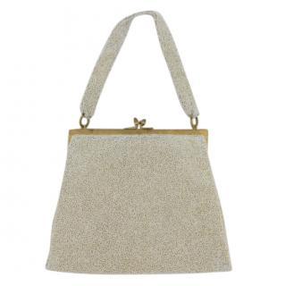 Gucci Vintage 1950s Beaded Kisslock Evening Bag Handbag