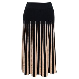 Sonia Rykiel Pleated A Line Black Diamante Skirt