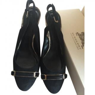 Burberry Suede Black Shoes size 39