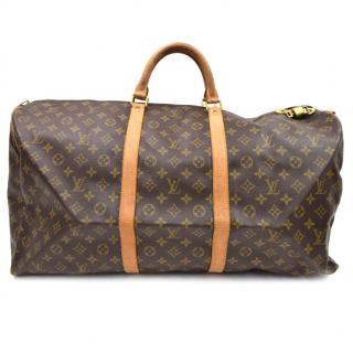 Louis Vuitton Keepall Bandoliere 60 Monogram Boston Bag 10379