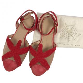 Charlotte Olympia Starfish Sandals in Red