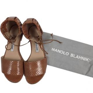 Manolo Blahnik Python Sandals