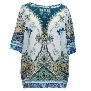 Etro Printed Floral Silk Top