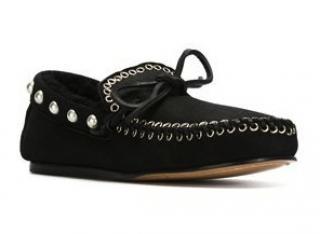 Isabel Marant Black Studded Arapaho Etty Sheepskin Loafers Brand New Boxed UK5