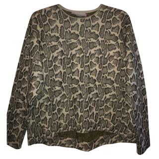 Stella McCartney Python Quilted Oversized Jumper BNWT UK16