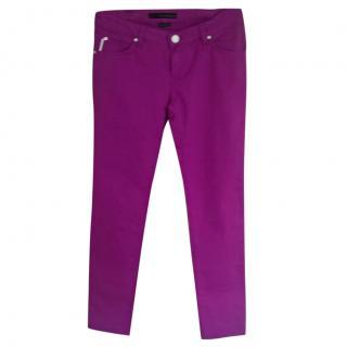 Calvin Klein low rise skinny mauve canvas jeans