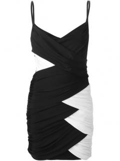 Balmain Monochrome Fitted Dress