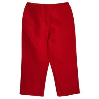 Valentino Roma Red Capri Trousers
