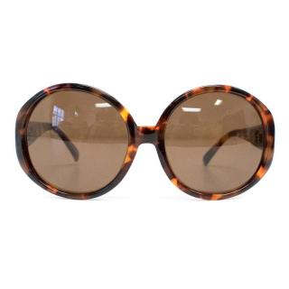 Luella x Linda Farrow Brown Tortoise Sunglasses