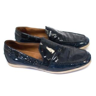 Bottega Veneta Dark Blue Loafers