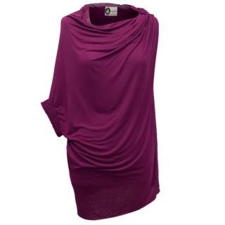Lanvin Purple Assymetrical Top