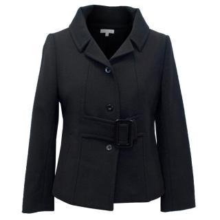 Paule Ka Black Wool Blend Blazer
