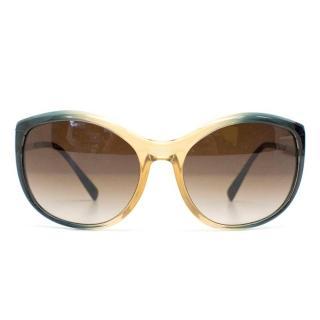 Prada Blue and Cream Gradient Sunglasses