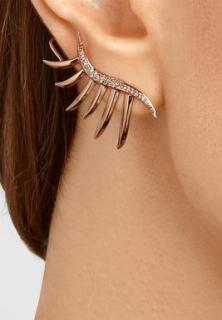 Eddie Borgo pair of rose gold 'frond' cuff earrings