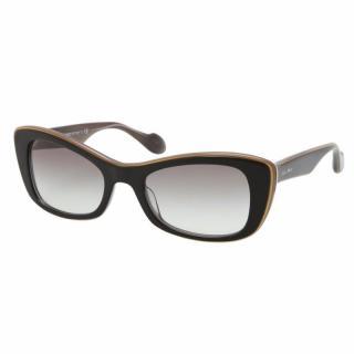 Miu Miu 01OS Black Rectangular Cat Eye Sunglasses