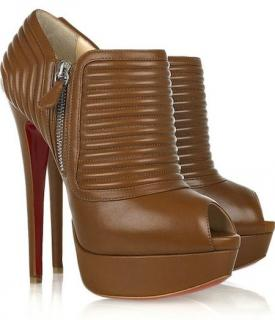 Christian Louboutin nappa leather peep-toe ankle boots