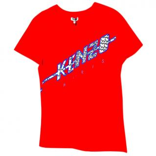 Kenzo Paris Red Cotton T-Shirt Sz Medium Brand New Tags