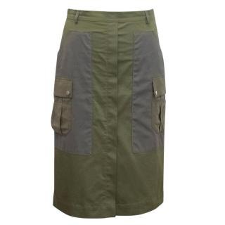 Altuzarra Green Cotton Blend Midi Skirt