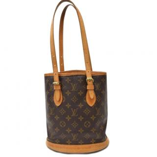 Louis Vuitton Bucket PM Monongram Shoulder Bag 10381