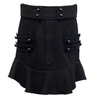 Isabel Marant Black Mini Skirt with Metallic Buttons