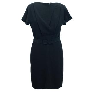 Roland Mouret Black Short Sleeve Dress With Exposed Zip