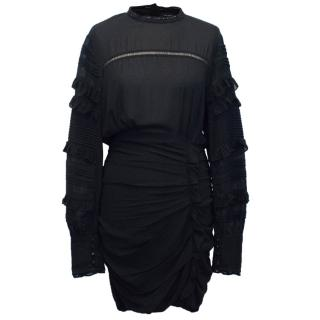 Isabel Marant Black Long Sleeve Dress