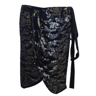 Isabel Marant Felmira Sequinned Wrap Skirt